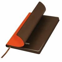 Ежедневник недатированный, Portobello Trend, Latte, 140х210, 256 стр, оранжевый/коричневый