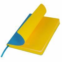 Ежедневник недатированный, Portobello Trend, River side, 145х210, 256 стр, голубой/желтый(без бум ле