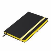 Ежедневник недатированный, Portobello Trend, Aurora, 145х210, 256 стр, черный/желтый