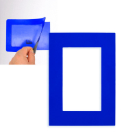 Фоторамка магнитная; синяя; 11