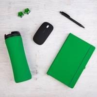 Набор подарочный LIKESKIN: ручка, мышь, блокнот, термокружка, коробка со стружкой, зелёный