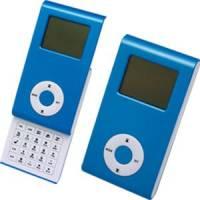 Калькулятор раздвижной с календарем и часами; синий; 9