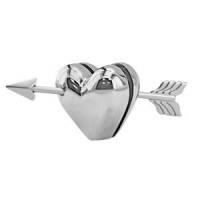 "Мемо-холдер ""Сердце""; 8х3,8х3,5 см; металл; лазерная гравировка"
