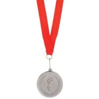 """Медаль наградная на ленте """"Серебро""""; 48 см."""