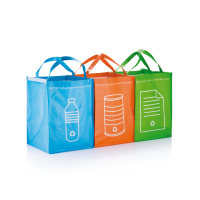 3 сумки для сортировки мусора