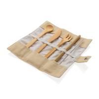 Многоразовый эко-набор столовых приборов Bamboo