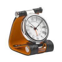 Часы дорожные, кожаный футляр