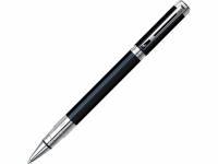 Ручка роллер Waterman «Perspective Black CT F», черный/серебристый
