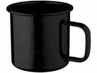 Кружка эмалированная «Emal», черный с белым вкраплением