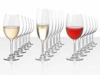 """Подарочный набор бокалов для красного, белого и игристого вина """"Celebration"""", 18шт"""