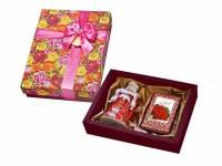 """Набор """"С Праздником"""": кукла декоративная, шоколадные конфеты """"Конфаэль"""", красный"""