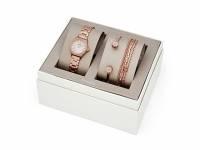 Подарочный набор: часы наручные женские, 4 браслета. Fossil
