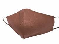 Маска для лица многоразовая из спанбонда, коричневый