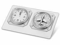 Часы настольные «Часовой пояс», серебристый (Р)