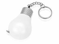 """Брелок-рулетка для ключей """"Лампочка"""", белый/серебристый"""