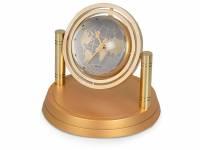 """Часы """"Карта мира"""", золотистый"""