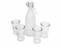 """Набор """"Baikal"""" из 4 стаканов для воды 250мл с графином 1000мл"""