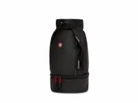 Термосумка для ланча SWISSGEAR, прорезиненный полиэстер 600D, чёрный/красный, 17х17x37 см, 5 л