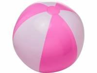 Непрозрачный пляжный мяч Bora, розовый/белый