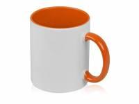 Кружка для сублимации «Sublime Color», белый/оранжевый