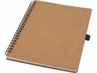 Блокнот Cobble на пружине, формат A5, изготовленный из переработанного картона, с листами из каменной бумаги, натуральный