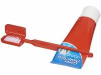 Зубная щетка Dana с выжимателем, красный