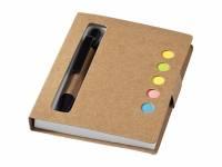 """Набор стикеров """"Reveal"""" с ручкой и блокнотом А7, светло-коричневый"""