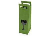 Декоративный чехол для бутылки, зеленый