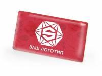 Значок металлический «Прямоугольник» закругленные углы, золотистый