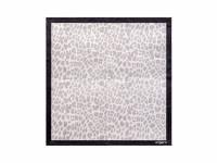 Шелковый платок Léopardo White-grey