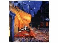 Платок «Ван Гог. Терраса кафе ночью», темно-синий/оранжевый