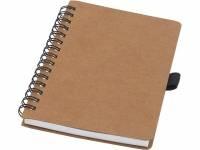 Блокнот Cobble на пружине, формат A6, изготовленный из переработанного картона, с листами из каменной бумаги, натуральный