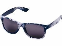 Солнцезащитные очки Sun Ray в пестрой оправе, синий, черный, белый