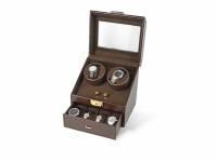 Шкатулка кожаная для часов с автоподзаводом «Респект», коричневый