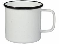 Кружка эмалированная «Emal», белый с черным вкраплением