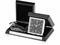 Часы настольные «Линкольн», черный/серебристый (Р)