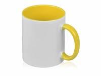 Кружка для сублимации «Sublime Color», белый/желтый