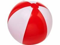 Непрозрачный пляжный мяч Bora, красный/белый