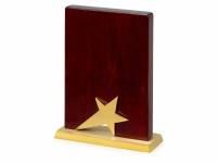 Награда «Galaxy» с золотой звездой, дерево, металл, в подарочной упаковке