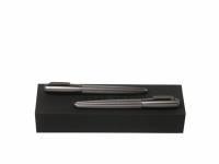 Подарочный набор: ручка перьевая, ручка-роллер. Hugo Boss, графит