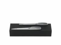 Подарочный набор: ручка перьевая, ручка шариковая. Hugo Boss, серебристый
