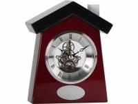 """Часы настольные """"Домик"""", коричневый/серебристый"""