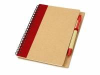 """Блокнот """"Priestly"""" с ручкой, красный"""