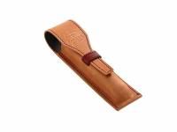 Чехол для ручки Parker, коричнево-рыжий