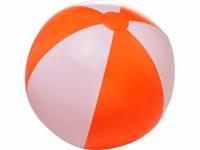 Непрозрачный пляжный мяч Bora, оранжевый/белый