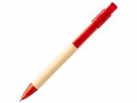 Шариковая ручка Safi из бумаги вторичной переработки, красный
