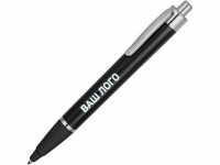 Ручка пластиковая шариковая «Glow», черный/серебристый (Р)