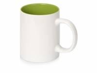 Кружка Sublime Color XL для сублимации 440мл, белый/зеленое яблоко