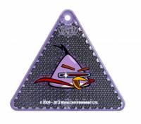 Светоотражатель Angry Birds Space, фиолетовый треугольник, в блистере