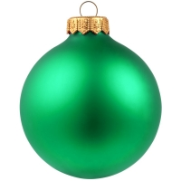 Елочный шар Gala Night Matt в коробке, зеленый, 8 см